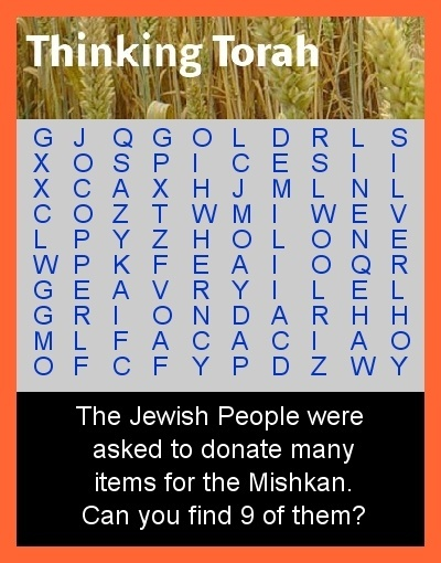 Terumah Word Search Puzzle