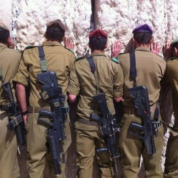 IDF soldiers at the Kotel