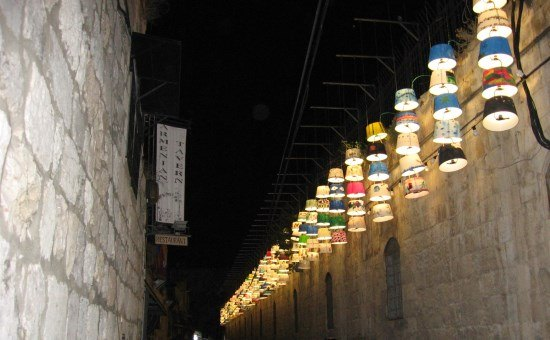 Lamp Shades in Old City Light Show